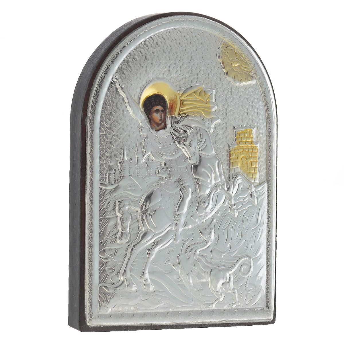 Икона Святого Георгия Победоносца, 5,5 см х 4 см