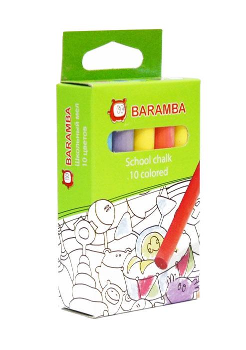 Мелки цветные Baramba, 10 штB00020Цветные мелки Baramba с круглым корпусом предназначены для письма и рисования на школьных досках, асфальте и бетоне. Мелки не пачкают руки, не крошатся.С их помощью малыш сможет создать яркие, радостные и неповторимые картины. Рекомендуемый возраст: 3+.