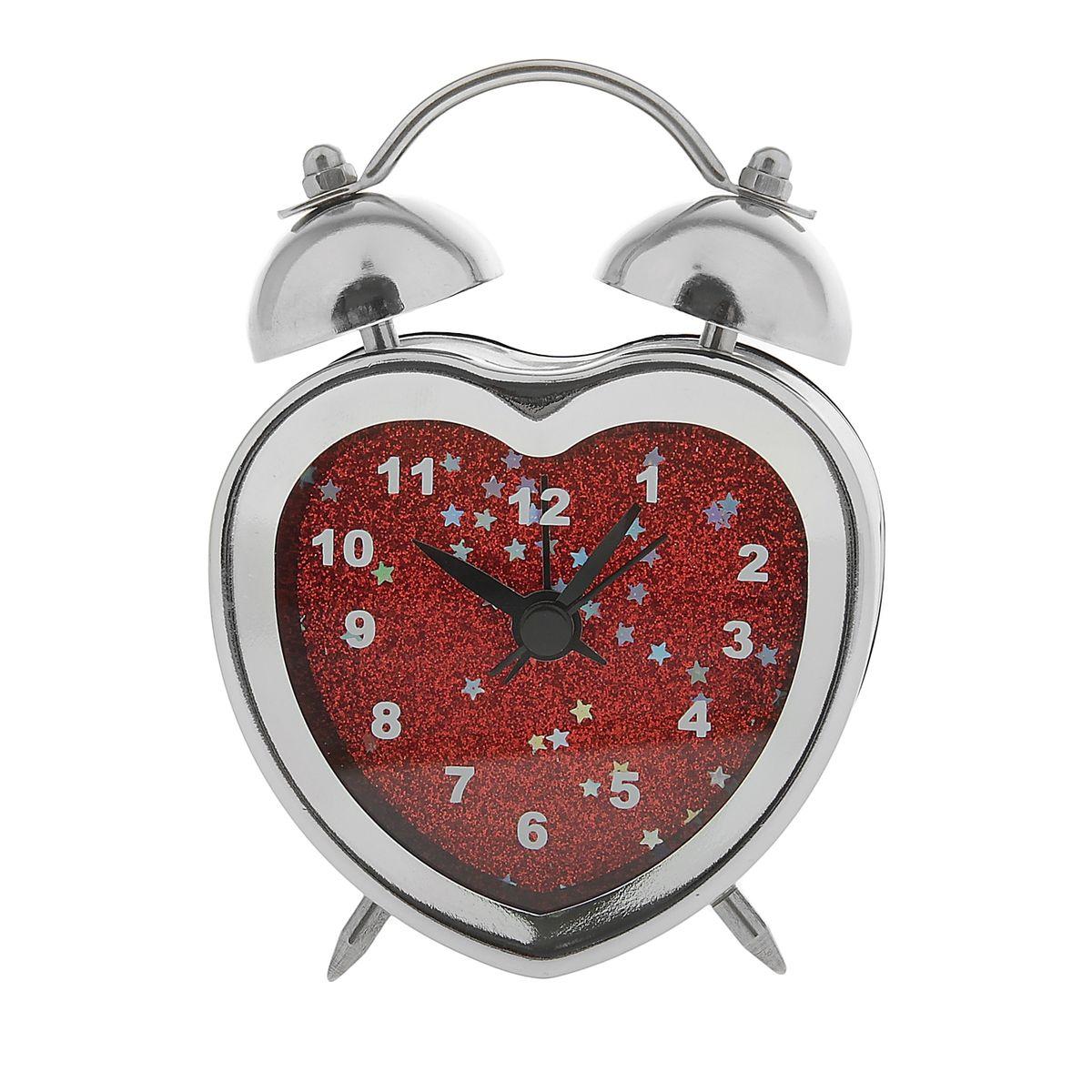 Часы-будильник Sima-land Сердце. 843481843481Как же сложно иногда вставать вовремя! Всегда так хочется поспать еще хотя бы 5 минут и бывает, что мы просыпаем. Теперь этого не случится! Яркий, оригинальный будильник Sima-land Сердце поможет вам всегда вставать в нужное время и успевать везде и всюду. Корпус будильника в форме сердца выполнен из хромированного металла. Циферблат оформлен красными блестками. Часы снабжены 4 стрелками (секундная, минутная, часовая и для будильника). На задней панели будильника расположен переключатель включения/выключения механизма, а также два колесика для настройки текущего времени и времени звонка будильника.Пользоваться будильником очень легко: нужно всего лишь поставить батарейку, настроить точное время и установить время звонка.Будильник Сердце - привлекательная деталь в обстановке, которая поможет воплотить вашу интерьерную идею, создать неповторимую атмосферу в вашем доме. Окружите себя приятными мелочами, пусть они радуют взгляд и дарят гармонию.Необходимо докупить 1 батарейку типа ААА (не входит в комплект).