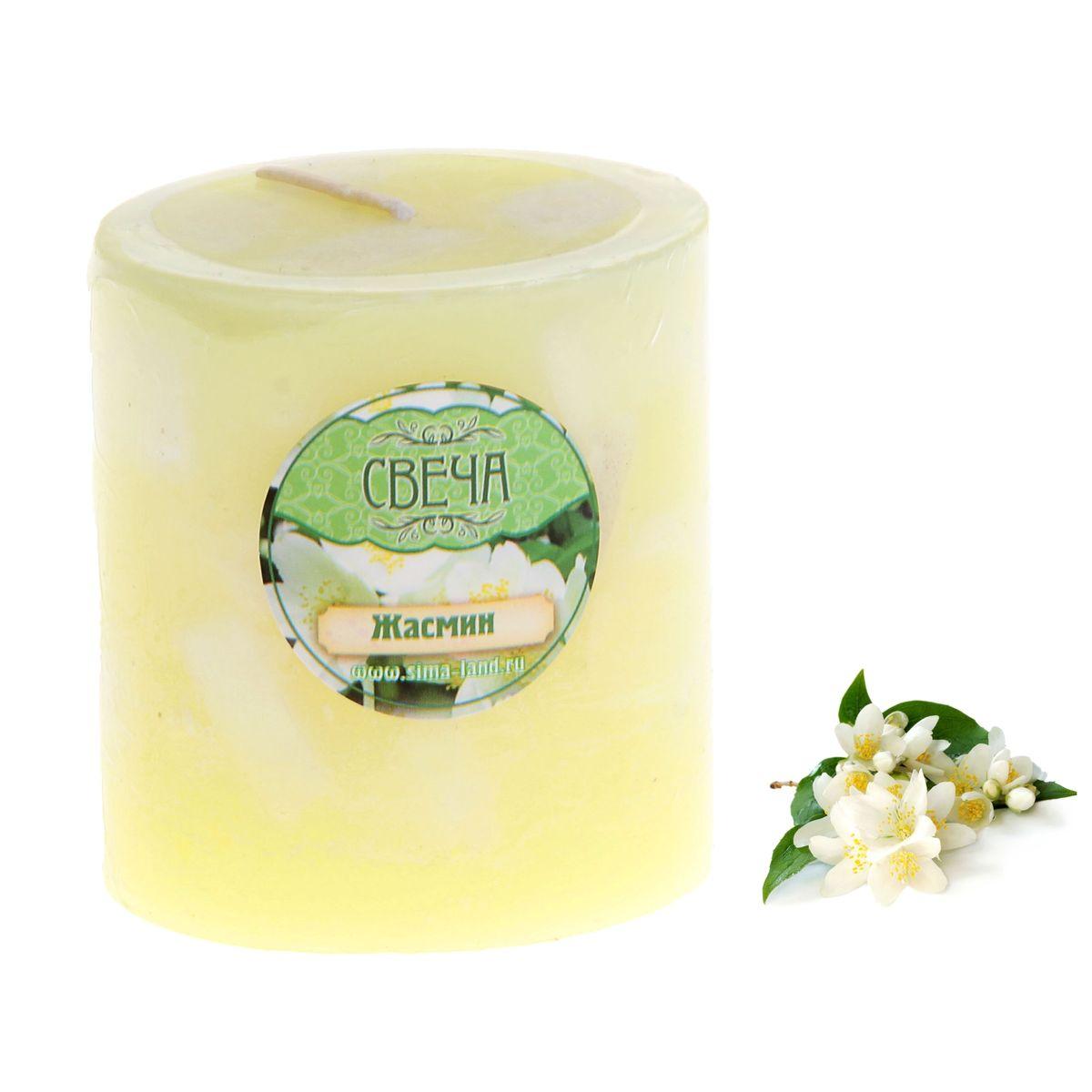 Свеча ароматизированная Sima-land Слияние. Жасмин, высота 7 см свеча ароматизированная sima land лимон на подставке высота 6 см
