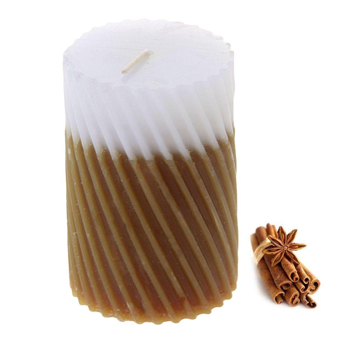 Свеча ароматизированная Sima-land Корица, высота 7,5 см. 849544 свеча корица колонна 80 60 мм фитиль парафиныч