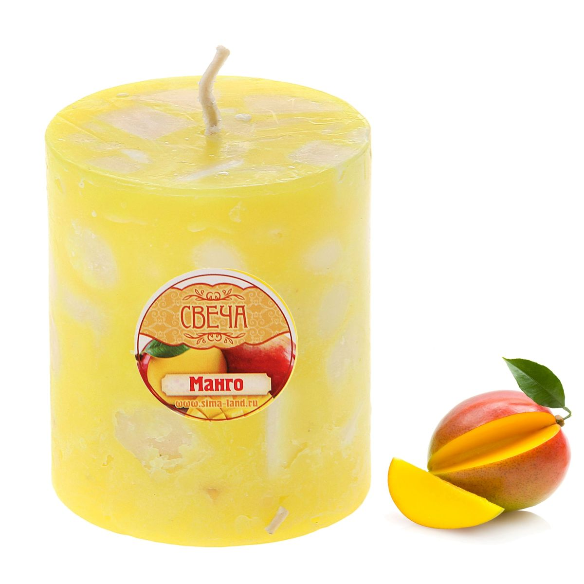 Свеча ароматизированная Sima-land Манго, высота 7 см sima land свеча с мишкой с днем рождения 7 4 5 х 7 см 1003758