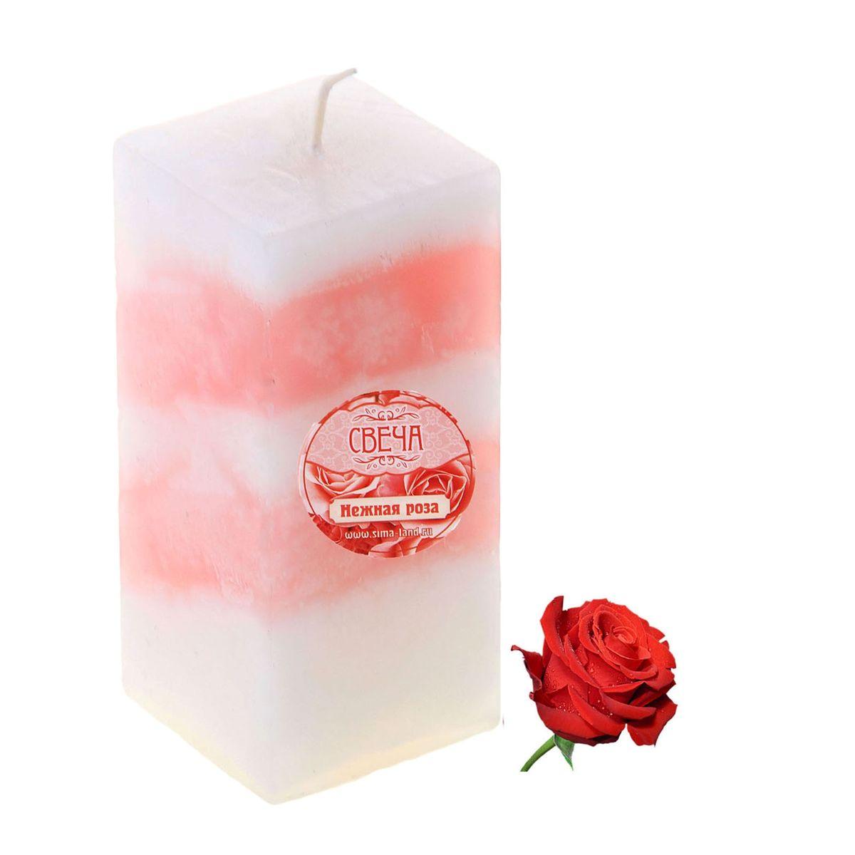 Свеча ароматизированная Sima-land Роза, высота 10 см