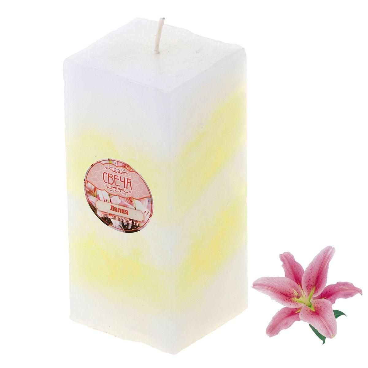 Свеча ароматизированная Sima-land Лилия, высота 10 см. 849593 свеча ароматизированная sima land лимон на подставке высота 6 см