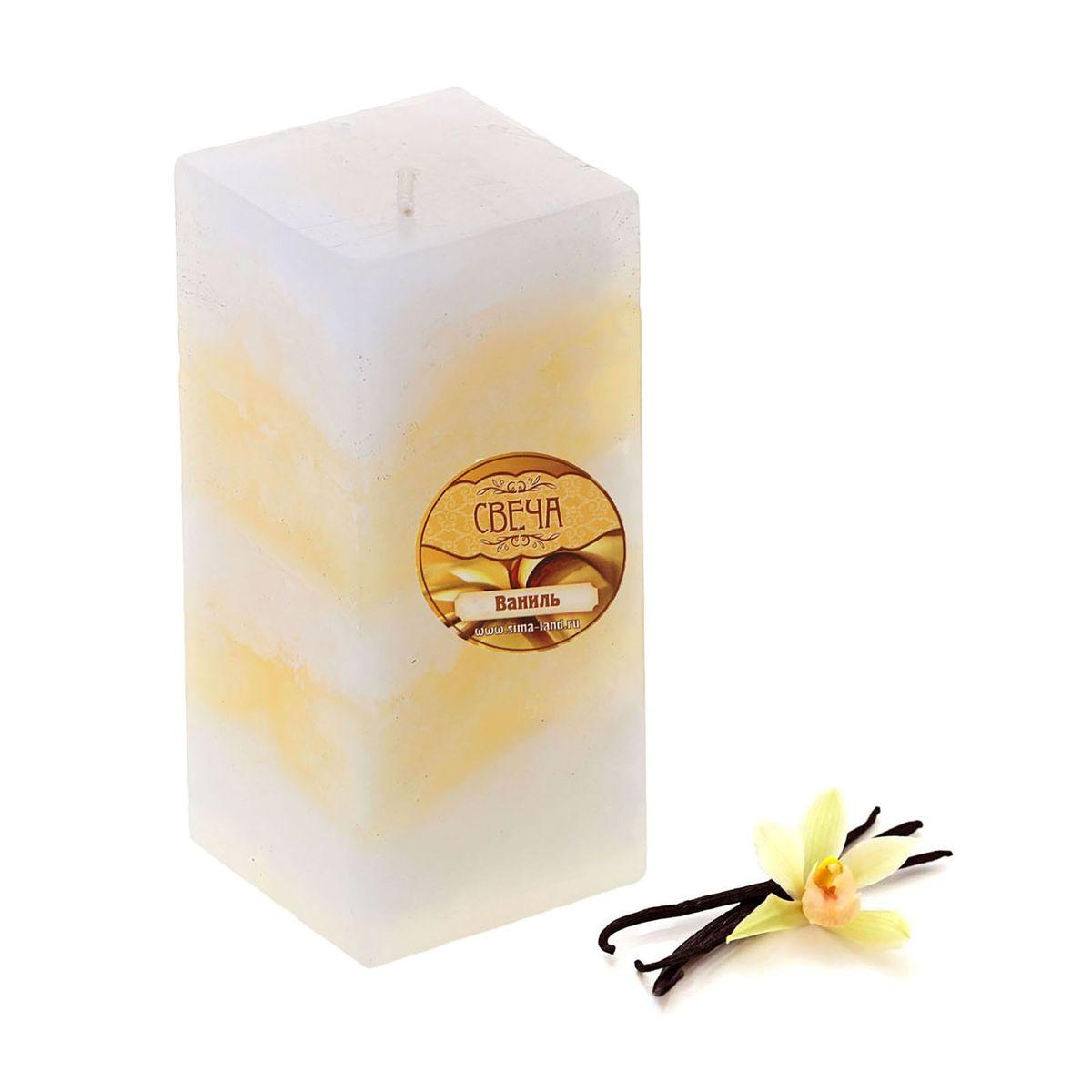 Свеча ароматизированная Sima-land Ваниль, высота 10 см