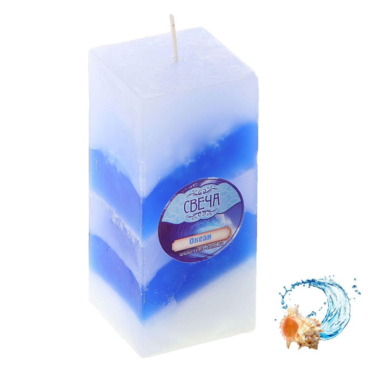 Свеча ароматизированная Sima-land Океан, высота 10 см свеча ароматизированная sima land лимон на подставке высота 6 см
