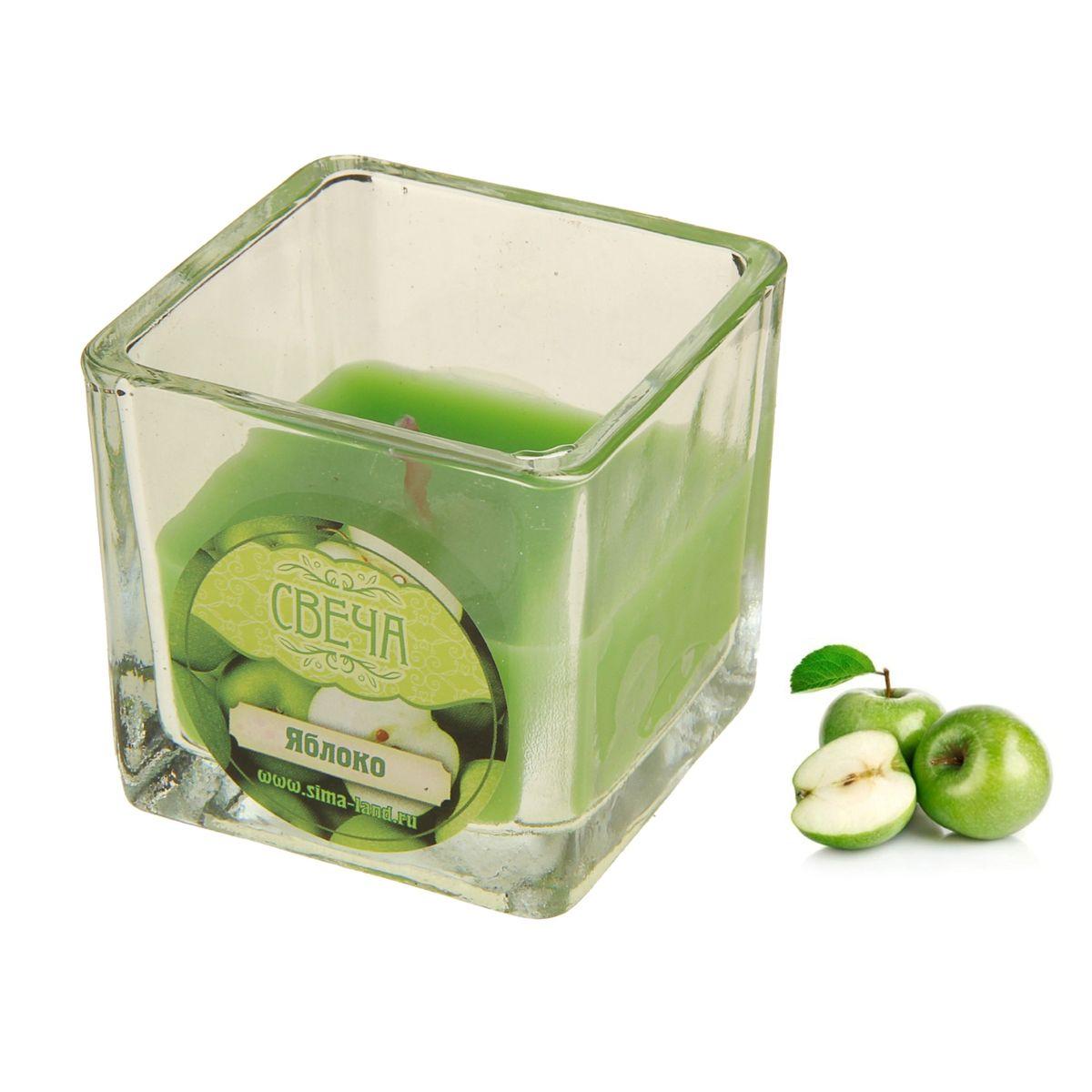 Свеча ароматизированная Sima-land Яблоко, высота 5 см свеча ароматизированная sima land зеленый чай высота 5 см