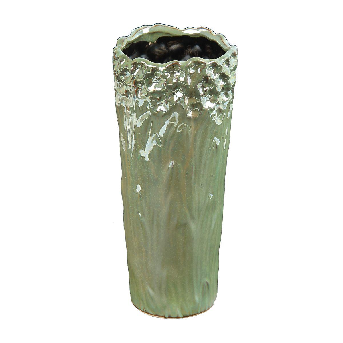Ваза Sima-land Перелив, высота 27 см863613Ваза Sima-land Перелив изготовлена из высококачественной керамики и оснащена антискользящими накладками на дне. Такая стильная ваза с легкостьювпишется практически в любой интерьер. Она станет изумительным подарком, которыйдоставит радость, ведь это не только красивый, но еще и функциональный презент.