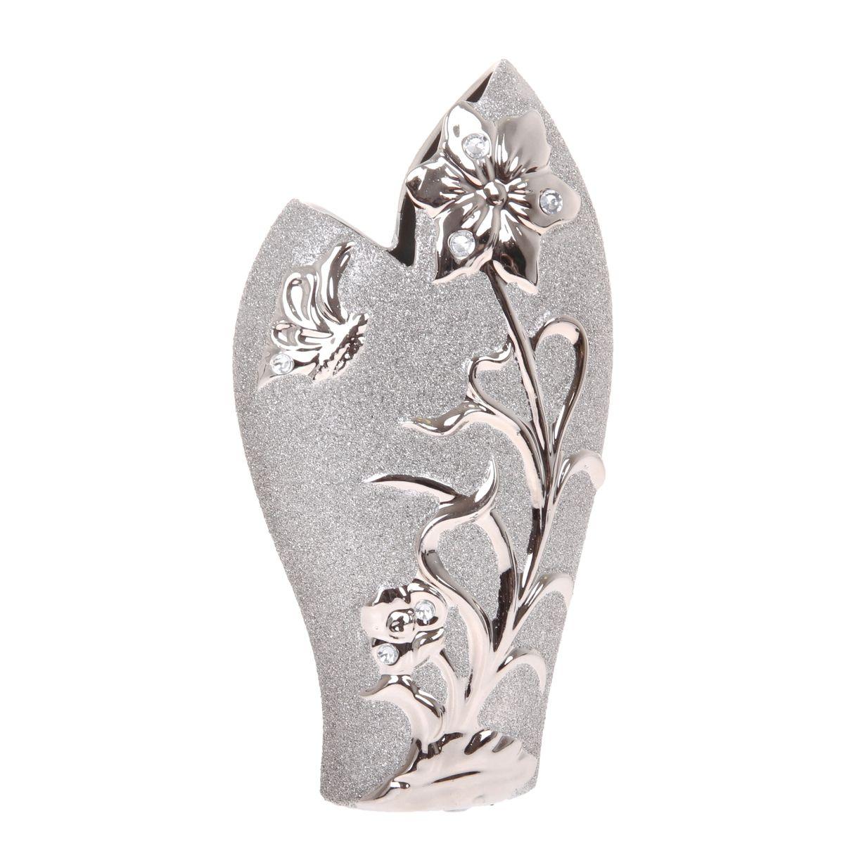 Ваза Sima-land Летнее настроение, высота 31 см865944Ваза Sima-land Летнее настроение, изготовленная из высококачественной керамики, декорирована блестками и стразами. Интересная форма и необычное оформление сделают эту вазу замечательным украшением интерьера. Она предназначена как для живых, так и для искусственных цветов. Любое помещение выглядит незавершенным без правильно расположенных предметовинтерьера. Они помогают создать уют, расставить акценты, подчеркнуть достоинства или скрытьнедостатки.