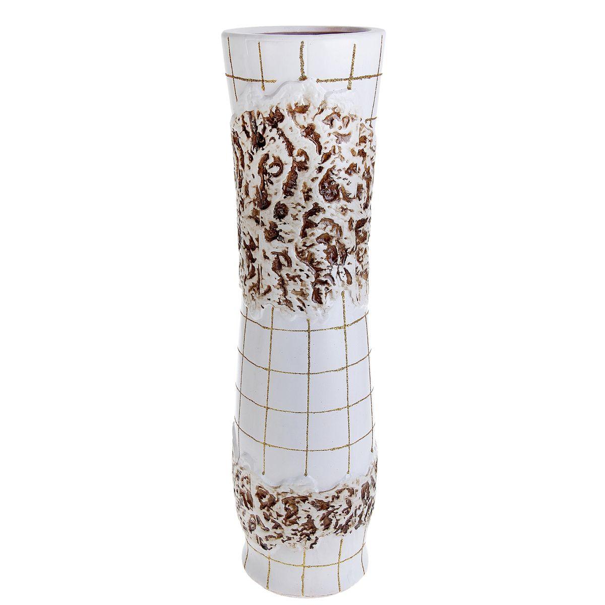 Ваза напольная Цветочная плитка, цвет: белый, высота 60 см. 913550 ваза русские подарки винтаж высота 31 см 123710