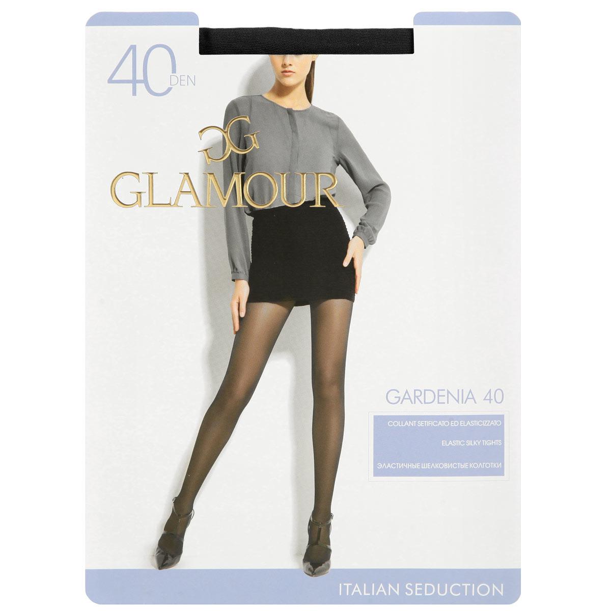 Колготки женские Glamour Gardenia 40, цвет: Nero (черный). Размер 5 (XL)