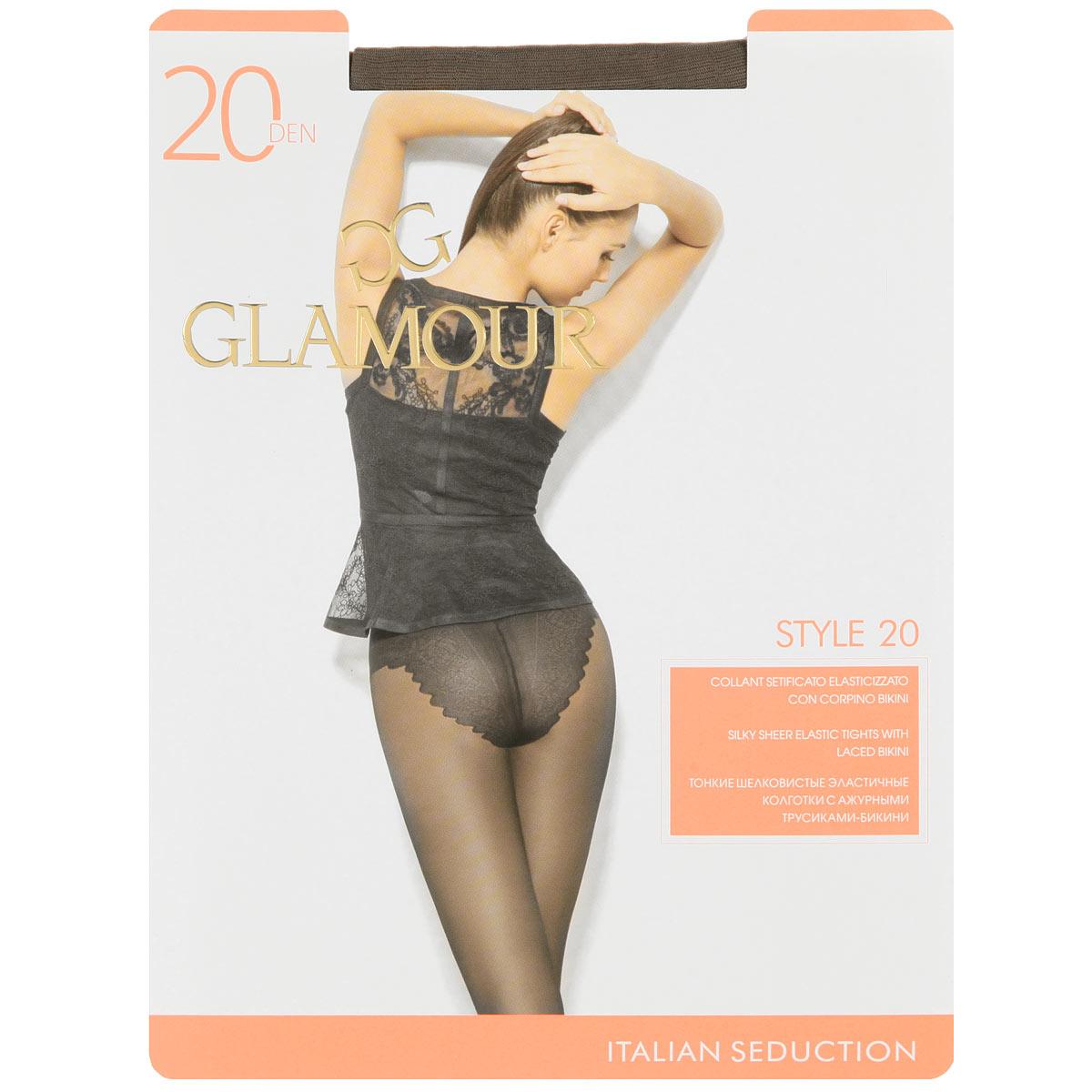 Колготки женские Glamour Style 20, цвет: Daino (загар). Размер 5 (XL) колготки женские glamour style 20 цвет daino загар размер 5 xl