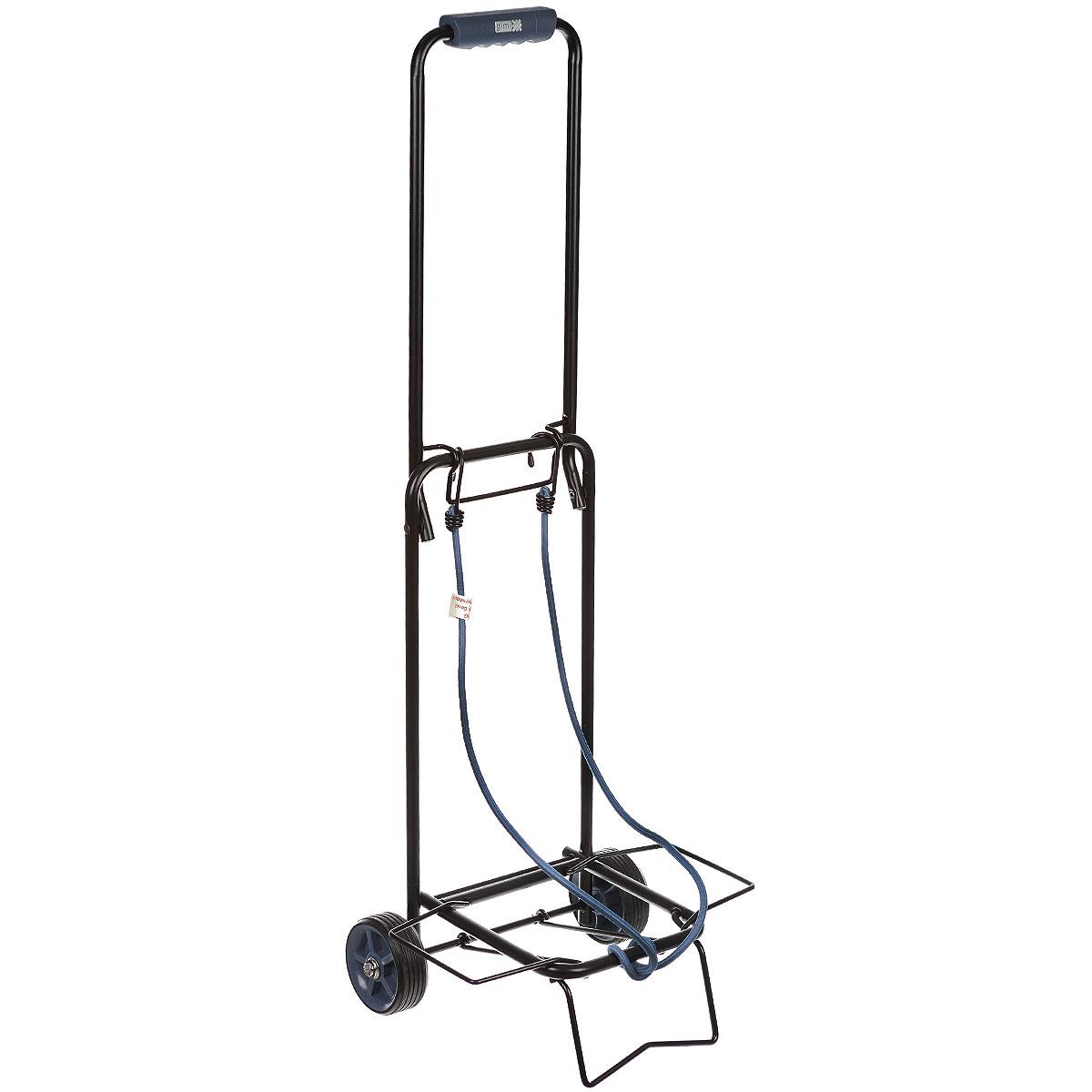 Тележка хозяйственная Atos, до 30 кг, цвет: черный15040400_черныйХозяйственная тележка Atos, выполненная из окрашенной стали и пластика, пригодится каждой хозяйке! Тележка предназначена для перевозки различных грузов: чемоданов, коробок. Тележка имеет эластичные ремни для крепления груза. Компактно собирается и не занимает много места.Размер в собранном виде: 31 см x 28 см x 86 см.Максимальная нагрузка: 30 кг.