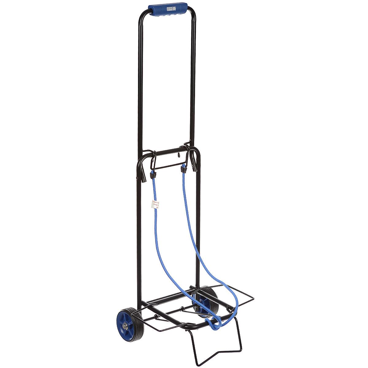 Тележка хозяйственная Atos, до 30 кг, цвет: синий15040400_синийХозяйственная тележка Atos, выполненная из окрашенной стали и пластика, пригодится каждой хозяйке! Тележка предназначена для перевозки различных грузов: чемоданов, коробок. Тележка имеет эластичные ремни для крепления груза. Компактно собирается и не занимает много места.Размер в собранном виде: 31 см x 28 см x 86 см.Максимальная нагрузка: 30 кг.