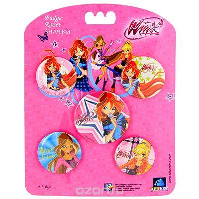 Набор значков Winx Club, 5 шт. 11117 набор детской косметики winx королевство фей