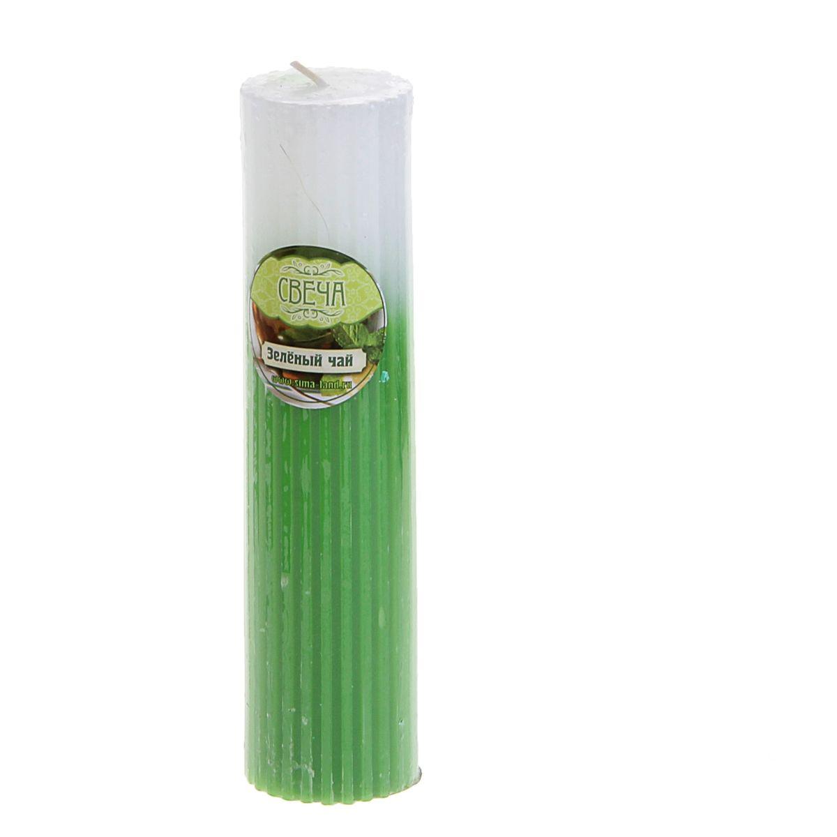 Свеча ароматизированная Sima-land Зеленый чай, высота 15 см свеча ароматизированная sima land зеленый чай высота 5 см