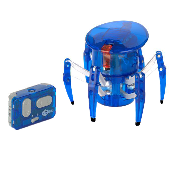 Микро-робот Hexbug Spider, цвет: синий hexbug микро робот aquabot angelfish цвет синий