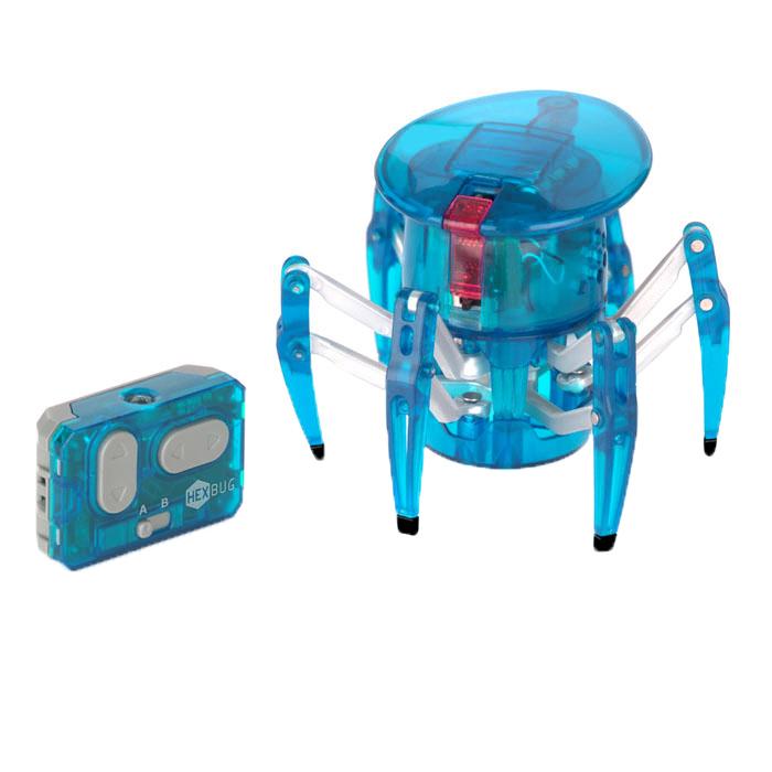 Микро-робот Hexbug  Spider , цвет: голубой - Интерактивные игрушки