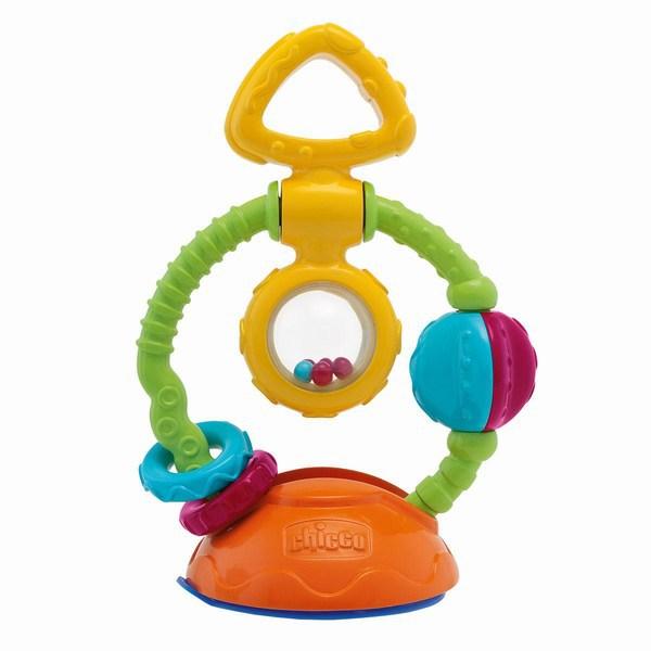 Развивающая игрушка-погремушка Chicco Кручу-верчу , на присоске, Artsana S.p.A., Развивающие игрушки  - купить со скидкой