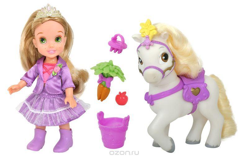 цены Disney Princess Игровой набор с мини-куклой Малышка Рапунцель и пони
