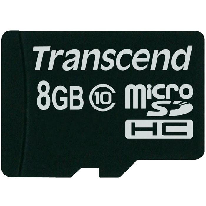 Transcend microSDHC Class 10 8GB карта памяти (TS8GUSDC10) карта памяти transcend 8gb microsdhc class 10 uhs i 300x premium adapter ts8gusdu1