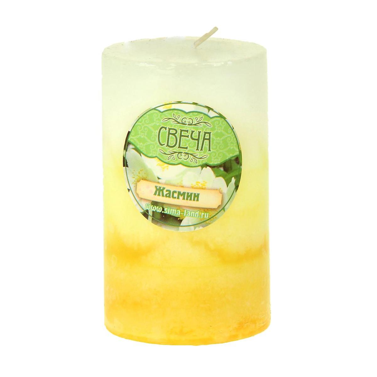 Свеча ароматизированная Sima-land Жасмин, высота 7,5 см. 907665 свеча ароматизированная sima land океан высота 4 см