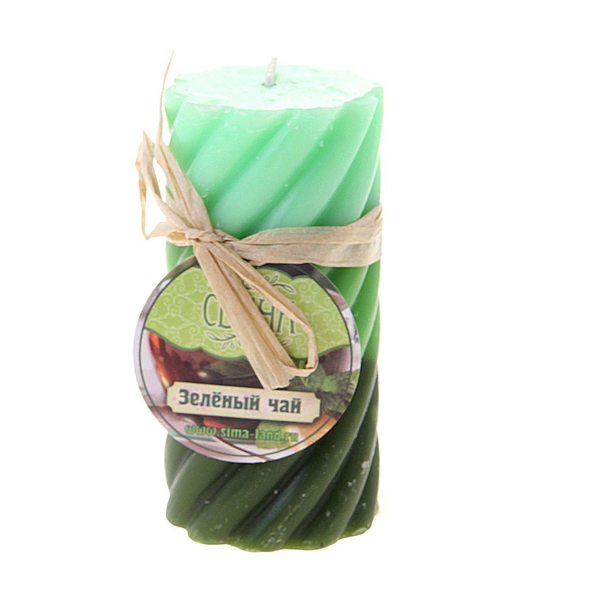 Свеча ароматизированная Sima-land Зеленый чай, высота 10 см свеча ароматизированная sima land зеленый чай высота 5 см