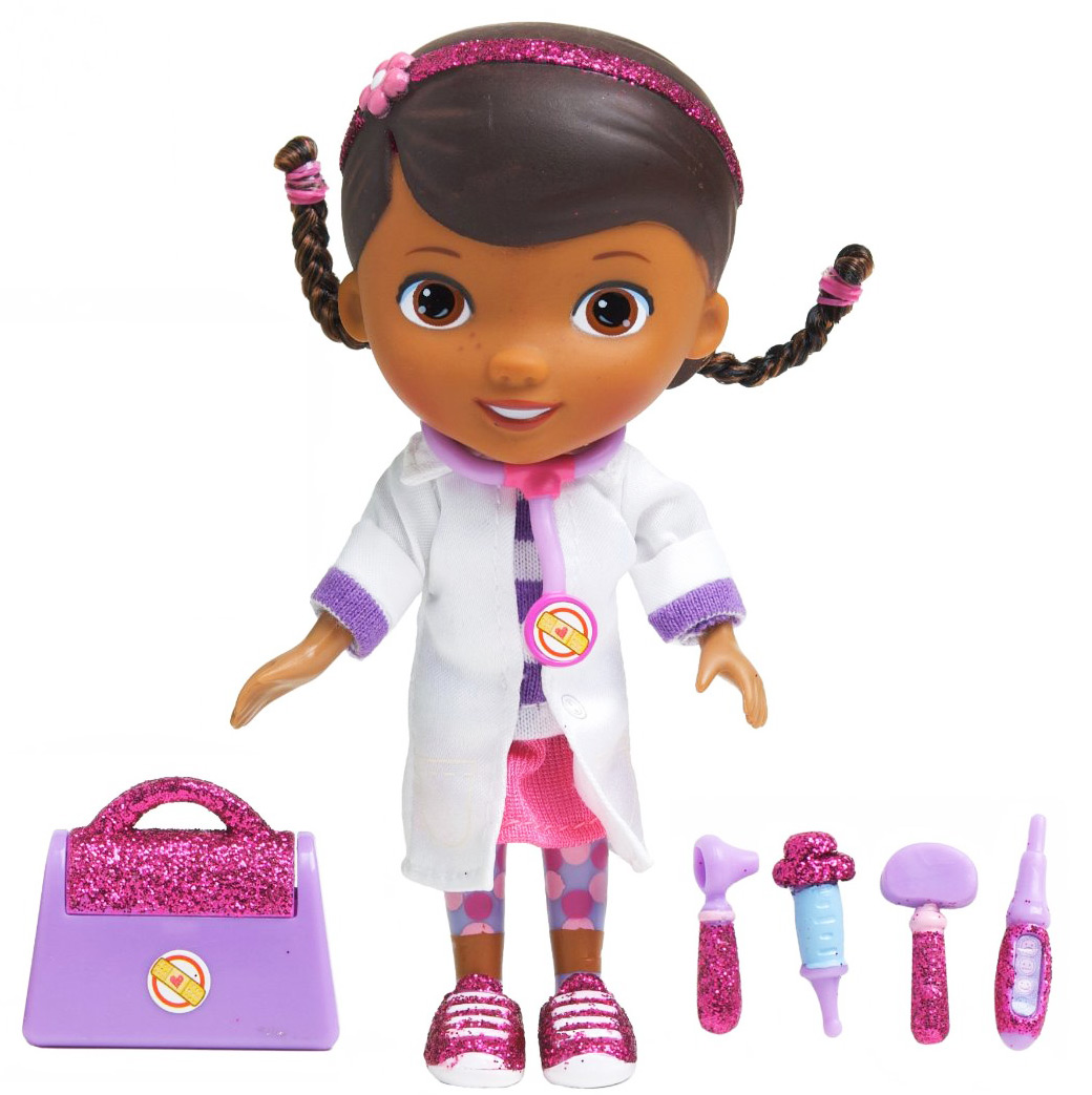 Кукла Disney Доктор Плюшева. Время осмотра, в белом халате, с аксессуарами