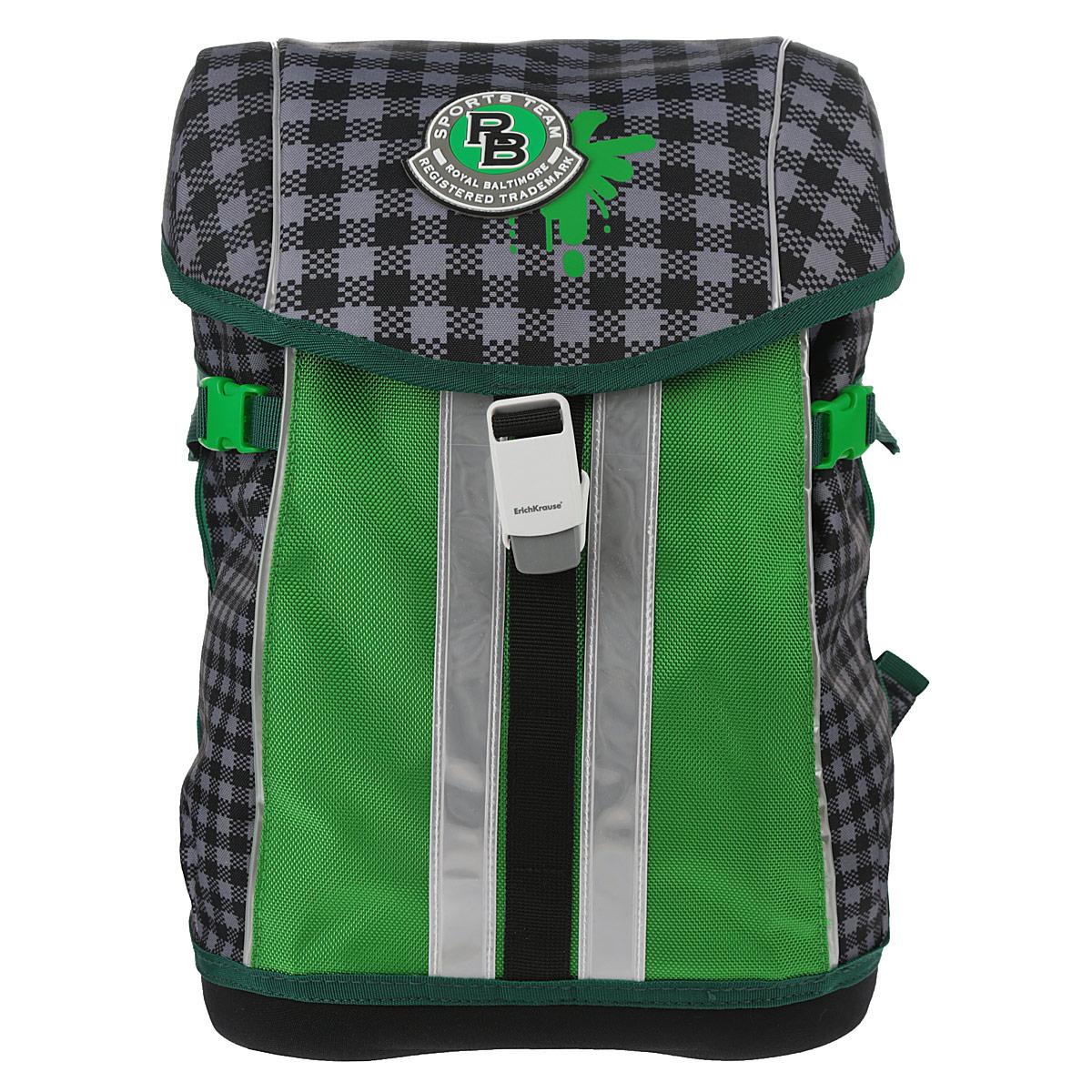 "Ранец Erich Krause ""Sport Baltimore"", цвет: серый, зеленый, Erich Krause Deutschland GmbH"