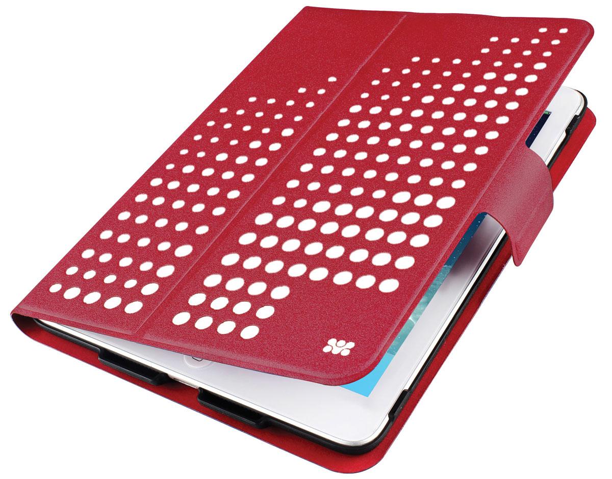 Promate Axis-Mini чехол для iPad mini, Maroon00008064Promate Axis-Mini представляет собой яркий дизайн вкупе с изысканной функциональностью. Встроенный поворотный механизм позволяет одним движением руки разворачивать ваш планшет из горизонтального в вертикальное положение. Крышка чехла имеет магнитный замок и может легко трансформироваться в подставку под iPad mini. Яркий внешний вид в сочетании с мягкой внутренней обивкой делают Axis-Mini модным атрибутом вашего имиджа.