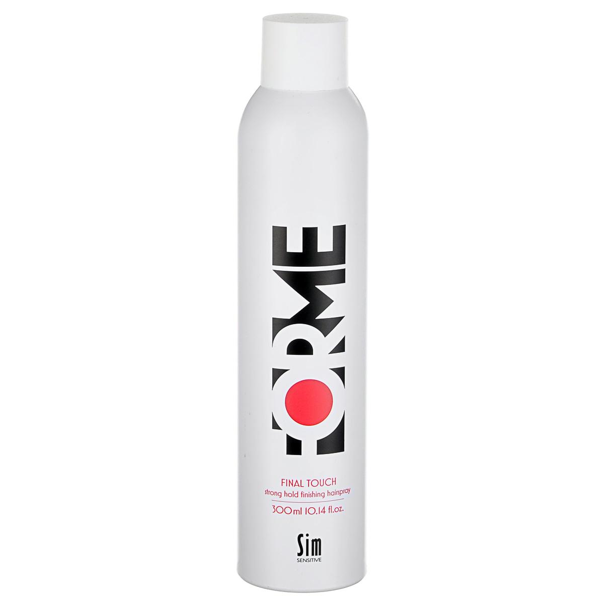 SIM SENSITIVE Лак сильной фиксации для укладки волос серии Forme FORME Final Touch Strong Hold Hair Spray, 300мл недорого