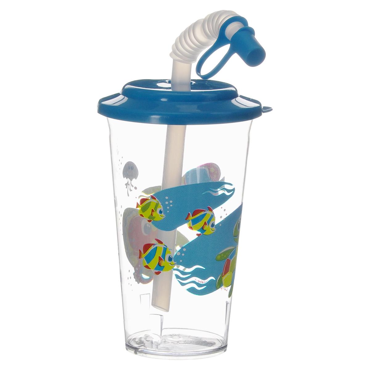 Canpol Babies Поильник с трубочкой Рыбы цвет голубой 320