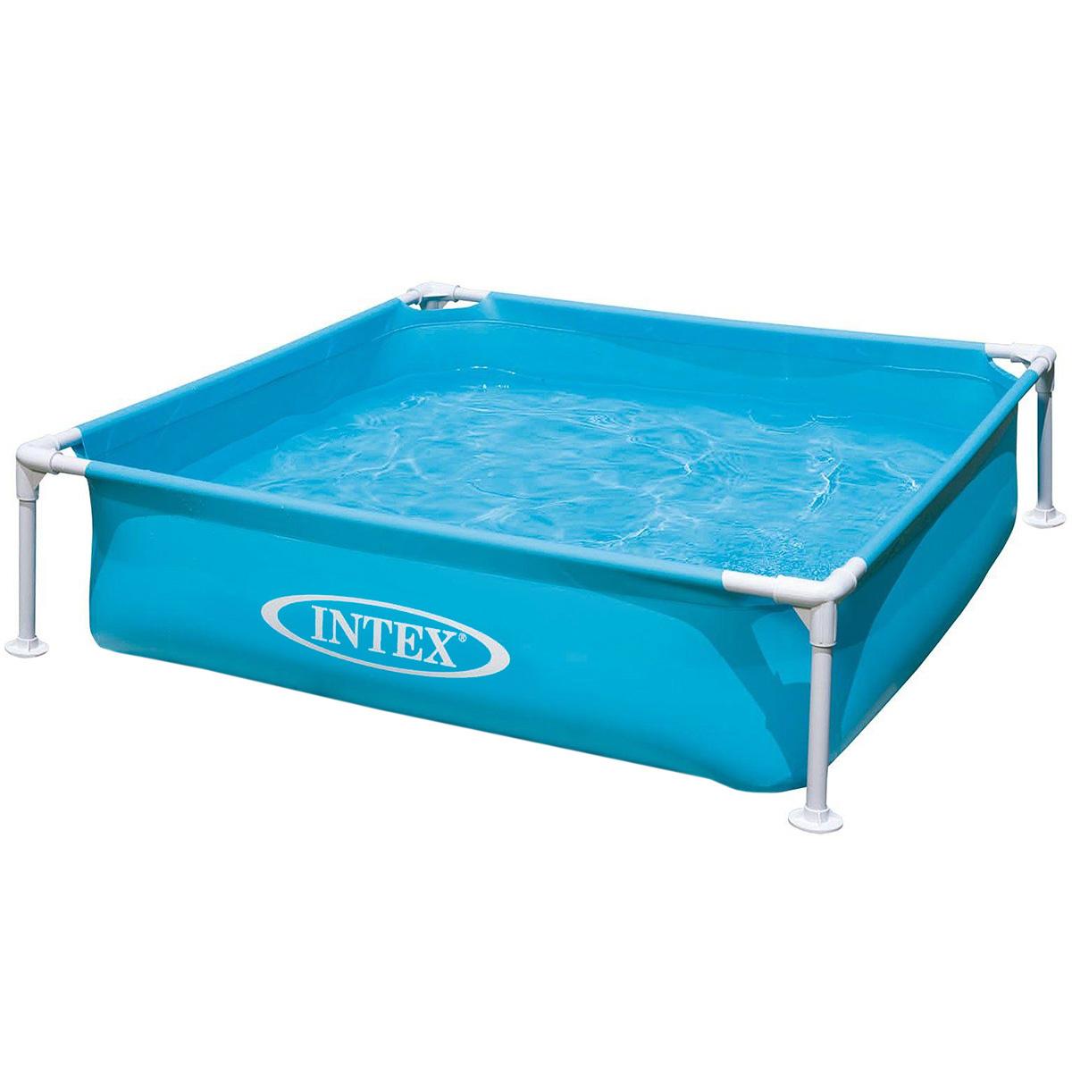 """Детский каркасный бассейн """"Intex"""" будет просто незаменим в летний жаркий день дома или на даче. Бассейн квадратной формы выполнен из прочного винила, дополнительную прочность обеспечивает стальной каркас. Такая конструкция позволяет бассейну выдерживать большие нагрузки при одновременном купании в нем нескольких детей. Дополнительную устойчивость бассейну придают четыре ножки.Яркий бассейн непременно станет для вас не только незаменимым атрибутом летнего отдыха, но и дополнением ландшафтного дизайна участка.  В комплект с бассейном входит специальная заплатка для ремонта в случае прокола. Гарантия производителя: 30 дней."""