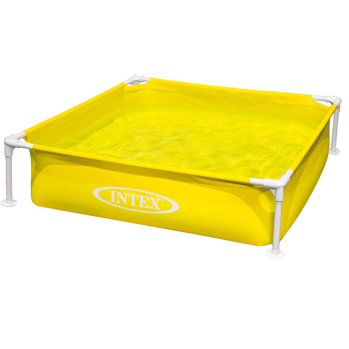 Бассейн Intex, каркасный, цвет: желтый, 122 см х 30 см каркасный бассейн intex 26734np 457х107 см