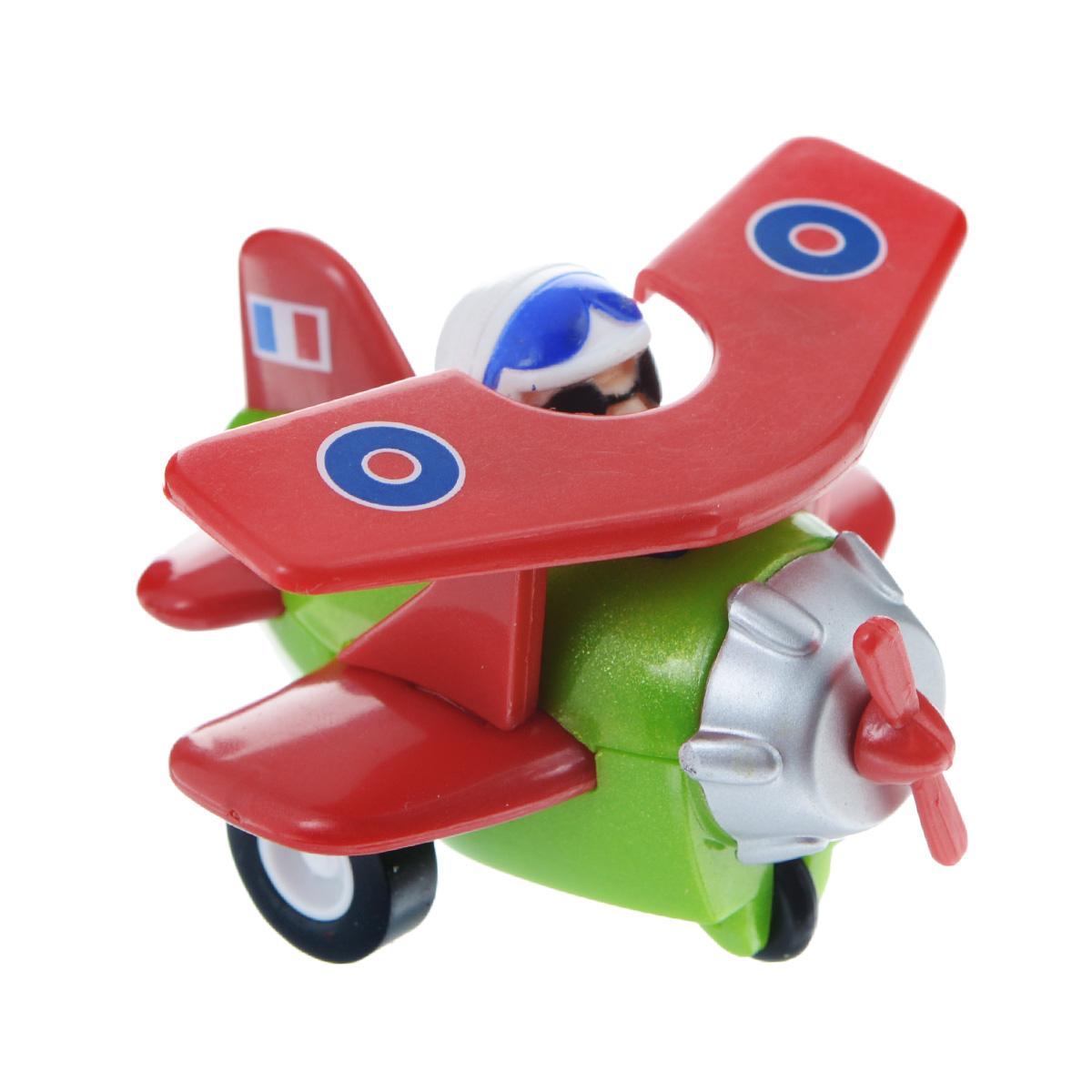 Hans Самолет инерционный цвет красный зеленый hans