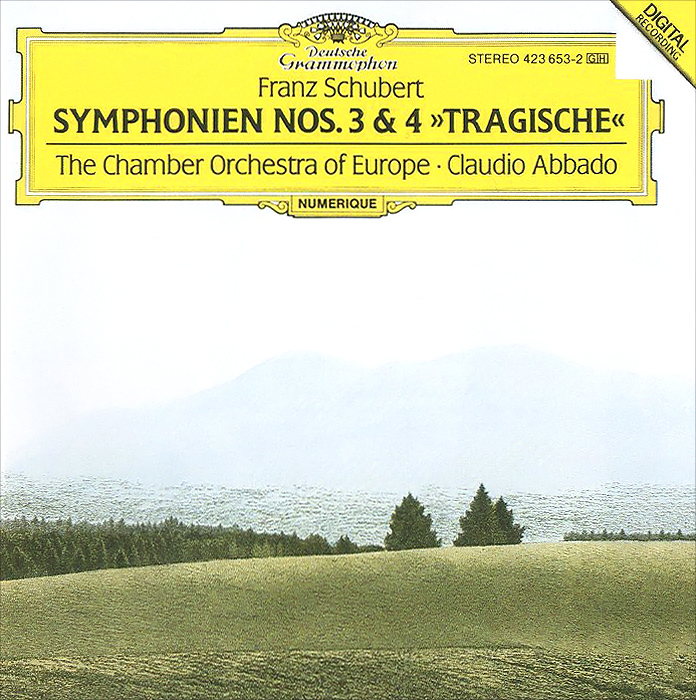 Клаудио Аббадо,The Chamber Orchestra Of Europe Claudio Abbado, The Chamber Orchestra Of Europe. Franz Schubert. Symphonien Nos. 3 & 4