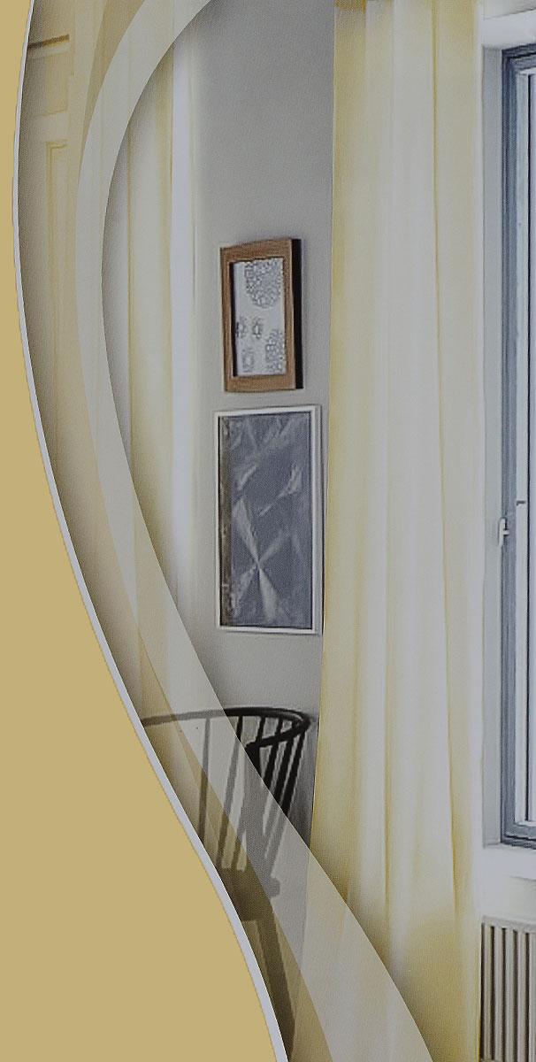 Штора готовая для гостиной Garden, на ленте, цвет: шампань, размер 300*260 см. CW191 V72212CW191 V72212Изящная тюлевая штора Garden выполнена из высококачественной вуали (100% полиэстера). Полупрозрачная ткань, приятный цвет привлекут к себе внимание и органично впишутся в интерьер помещения. Такая штора идеально подходит для солнечных комнат. Мягко рассеивая прямые лучи, она хорошо пропускает дневной свет и защищает от посторонних глаз. Отличное решение для многослойного оформления окон. Штора крепится на карниз при помощи ленты, которая поможет красиво и равномерно задрапировать верх.