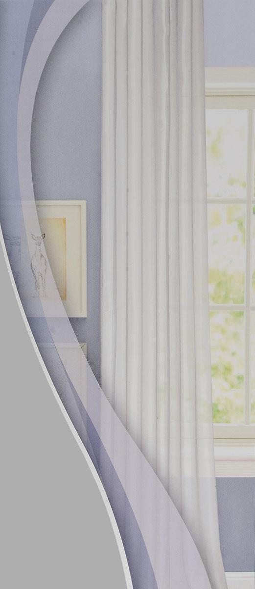 """Изящная тюлевая штора """"Garden"""" выполнена из структурной органзы (100% полиэстера). Полупрозрачная ткань, приятный цвет привлекут к себе внимание и органично впишутся в интерьер помещения. Такая штора идеально подходит для солнечных комнат. Мягко рассеивая прямые лучи, она хорошо пропускает дневной свет и защищает от посторонних глаз. Отличное решение для многослойного оформления окон. Штора крепится на карниз при помощи ленты, которая поможет красиво и равномерно задрапировать верх."""