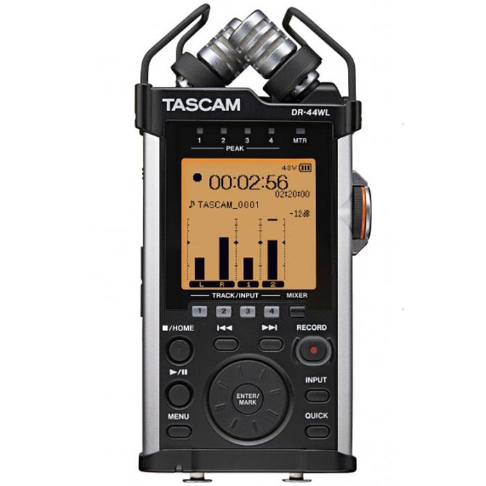Tascam DR-44WL, Black диктофонTASCAM DR-44WLЦифровой диктофон Tascam DR-44WL - это компактное устройство с четырьмя дорожками для записи и возможностью управления при помощи мобильного телефона при помощи встроенного модуля Wi-Fi. Два высокочувствительных микрофона дают возможность улавливать больше подробностей звука и записывать его с максимальным количеством деталей.Эргономичный корпус Tascam DR-44WL разработан для работы при помощи одной руки. Интуитивное расположение клавиш создано для максимального комфорта при работе с устройством. Специальный регулятор дает возможность настройки чувствительности микрофонов вручную.Подключение при помощи технологии Wi-Fi не требует дополнительных проводов и делает управление диктофоном очень простым при помощи мобильного устройства. Бесплатное приложение, идущее в комплекте, с огромным набором настроек позволяет записывать, прослушивать и делиться вашими аудиоматериалами в социальных сетях.ЦАП: Cirrus logic CS42L52Битрейт и частота: WAV/BWF: 44.1/48/96 кГц, 16/24 бит, MP3: 44.1/48 кГц, 32 - 320 Кбит/секСоотношение сигнал/шум: 92 дБВстроенный динамик 300 мВт2 кардиоидных конденсаторных микрофонаСовместим с ОС: Windows Vista / 7 / 8 / 8.1, iOS, MAC OS X AndroidWi-Fi b/g/n, радиус действия 20 метров
