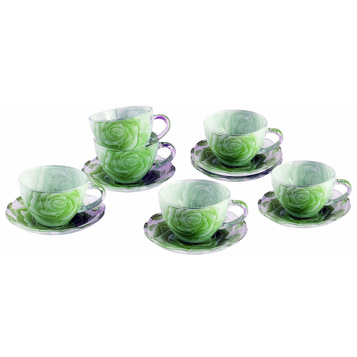 Набор чайный BK-5853 12прBK-585312пр.: чашка - 6шт. (200мл), блюдце - 6шт. (13,5см). Подарочнаяупаковка. Состав: стекло.