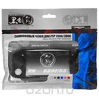 Силиконовый чехол для PSP 2000/3000 (черный) repair parts replacement buttons for psp slim 2000 blue