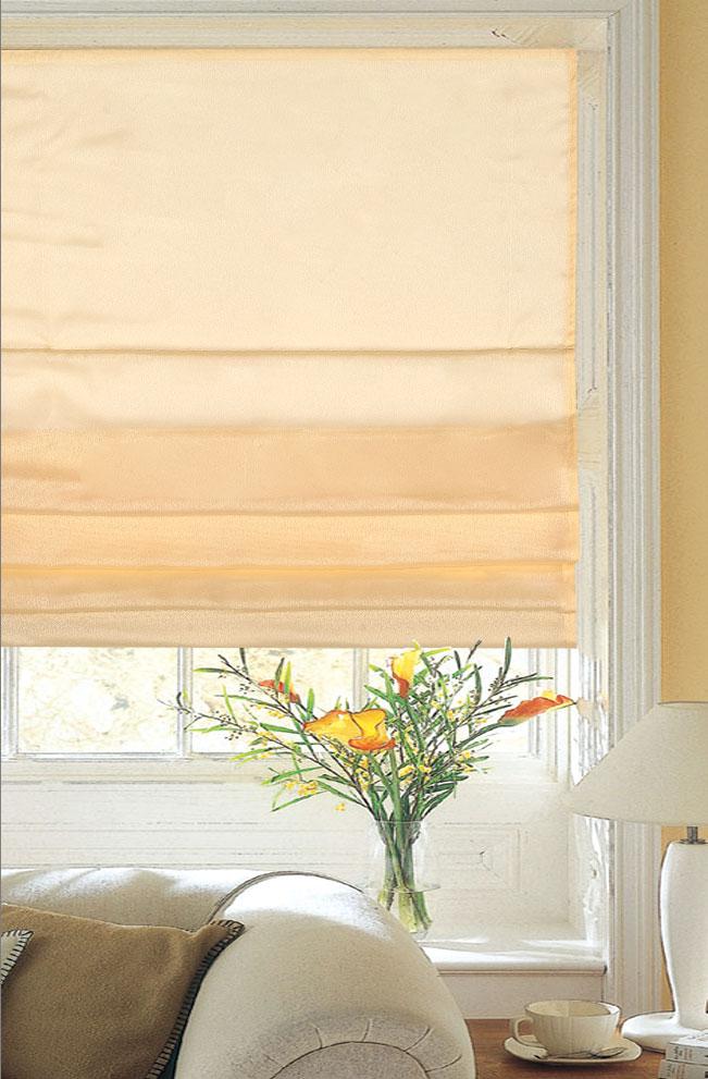 Римская штора Garden 62х170 см, цвет: персиковый, Garden (Текстиль)