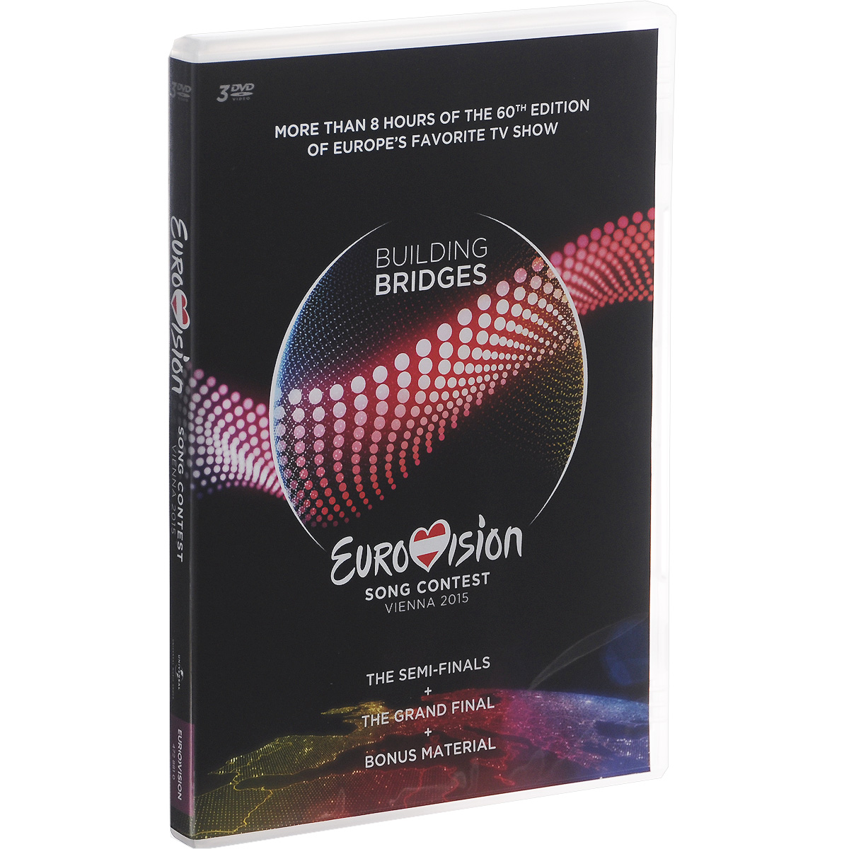Eurovision: Song Contest Vienna 2015 (3 DVD) футболка song times 8122 2015