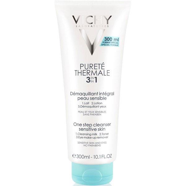 Vichy Универсальное средство для снятия макияжа Purete Thermal Интеграль Демакияж (3в1), 200 мл17808972Средство экспресс-ухода 3 в 1: совмещает очищающее молочко, лосьон-тоник, средство для снятия макияжа с глаз в одной формуле. Мягко очищает кожу, не нарушает её естественный защитный барьер. Оказывает успокаивающее действие. Кожа становится свежей, чистой и удивительно нежной.