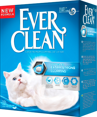 Наполнитель для кошачьего туалета Ever Clean Extra Strength Unscented, комкующийся, 10 л средство для уничтожения запахов zoo clean дезосан 1 л