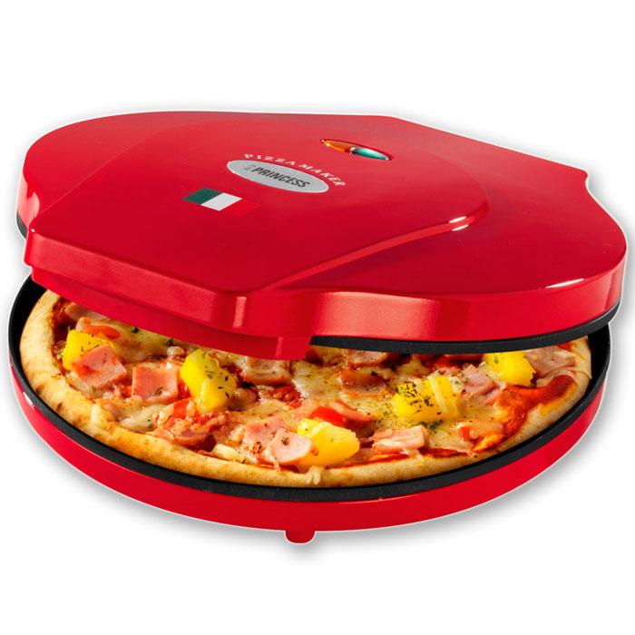Princess 115000, Red пицца-мейкер115000Приготовьтедома отличную итальянскую пиццу вместе с Princess. Пицца-мейкер Princess 115000поможет вам приготовить свежайшую пиццу диаметром до 30 см за считанные минуты. Оснащен световым индикатором питания. С антипригарным покрытием. Легко очищается. Идеален для любителей пиццы!Глубина рабочей поверхности: 2,1 см.