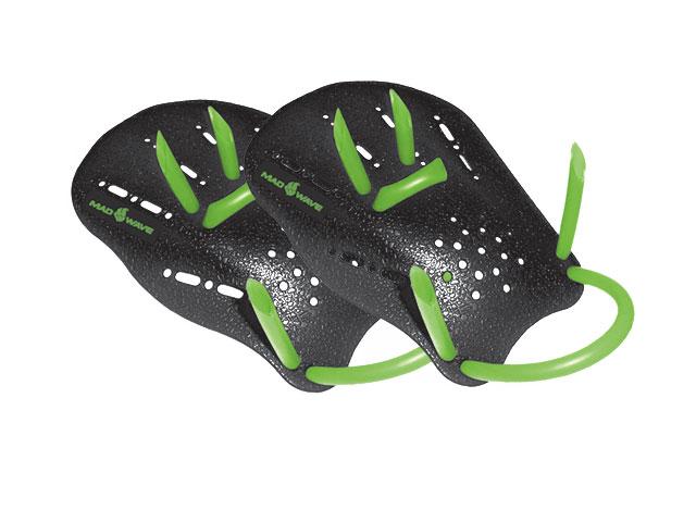 Лопатки MadWave Hand Paddles, цвет: черный, зеленый. Размер S сланцы madwave madwave ma991akffh77