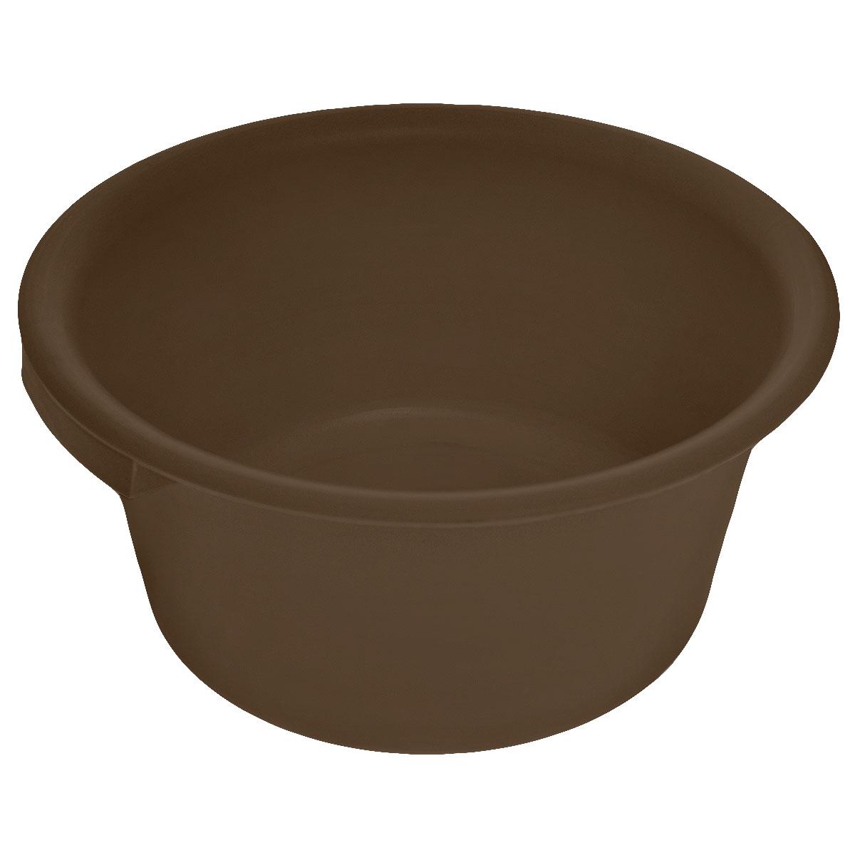 Таз хозяйственный Альтернатива, цвет: темно-коричневый, 9 лМ1106_коричневыйТаз Альтернатива изготовлен из высококачественного пластика. Он выполнен в классическом круглом варианте. Для удобного использования изделие снабжено двумя ручками. Таз предназначен для стирки и хранения разных вещей. Он пригодится в любом хозяйстве.Диаметр (по верхнему краю): 35 см.Высота: 15,5 см.