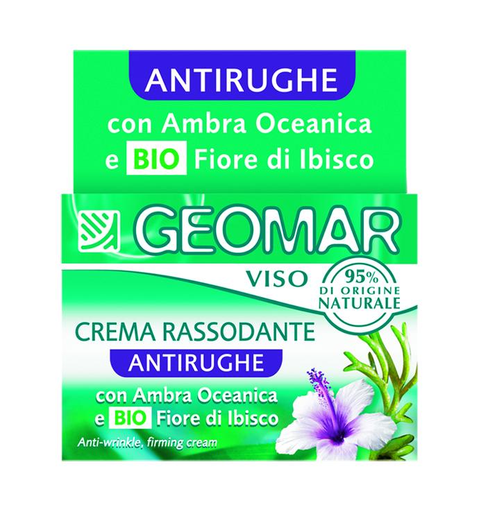Geomar Крем для лица против морщин укрепляющий 50 мл.38681101Подходит для всех типов кожи, даже для чувствительной. Содержит бурую водоросль – это морская водоросль, которая обеспечивает упругость кожи и разглаживает морщины, улучшает синтез коллагена. В состав входит натуральный цветок гибискуса, известный своими тонизирующими и омолаживающими свойствами.