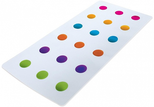Munchkin коврик для ванной 36+ , цвет: белый12194Умный коврик для ванной Munchkin сделает купание не только безопасным, но и поднимет настроение своими яркими цветами. Благодаря присоскам, коврик надежно крепится ко дну ванной и не скользит.